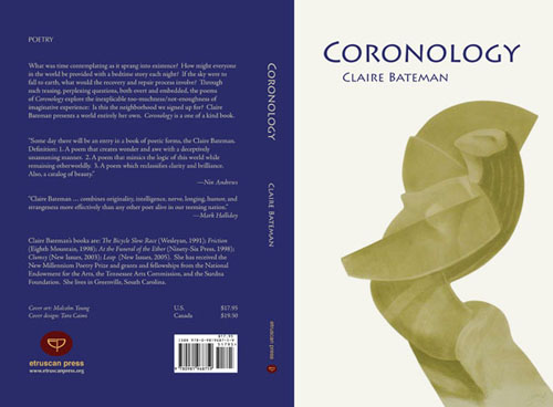 Full cover design for Coronology by Claire Bateman
